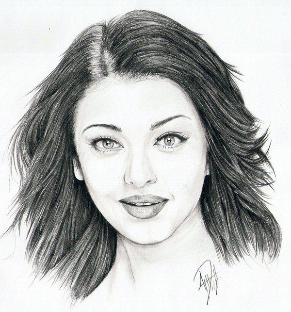 Aishwarya Rai Portrait by Skimbleshanks2.deviantart.com on @DeviantArt