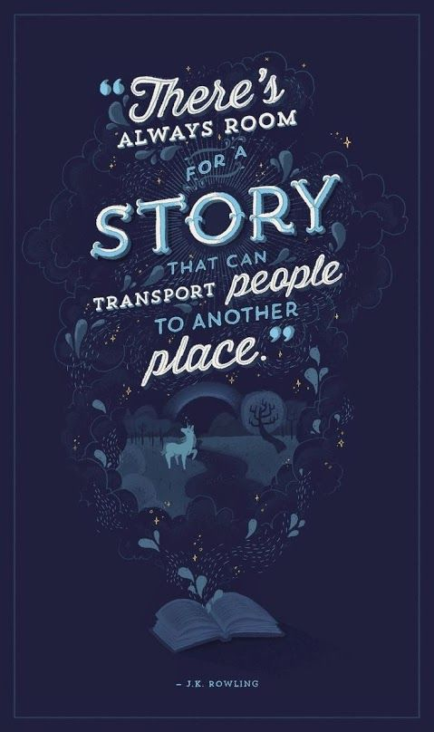 There's always room for a story that can transport people to another place.