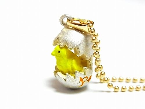 ひよこアクセサリーパルナートポック『ピヨネックレス』【PalnartPocパルナートポック】【BroughSuperiorブラフシューペリア】送料無料ヒヨコファンタジー個性的ユニークカワイイ卵鳥バードエッグプレゼント嬉しい女子おもしろかわいい