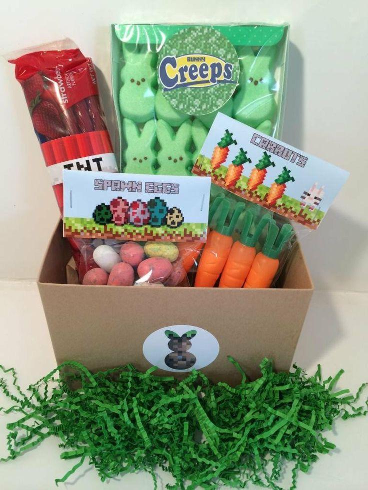 85 best easter images on pinterest easter bunny easter basket minecraft easter basket negle Images