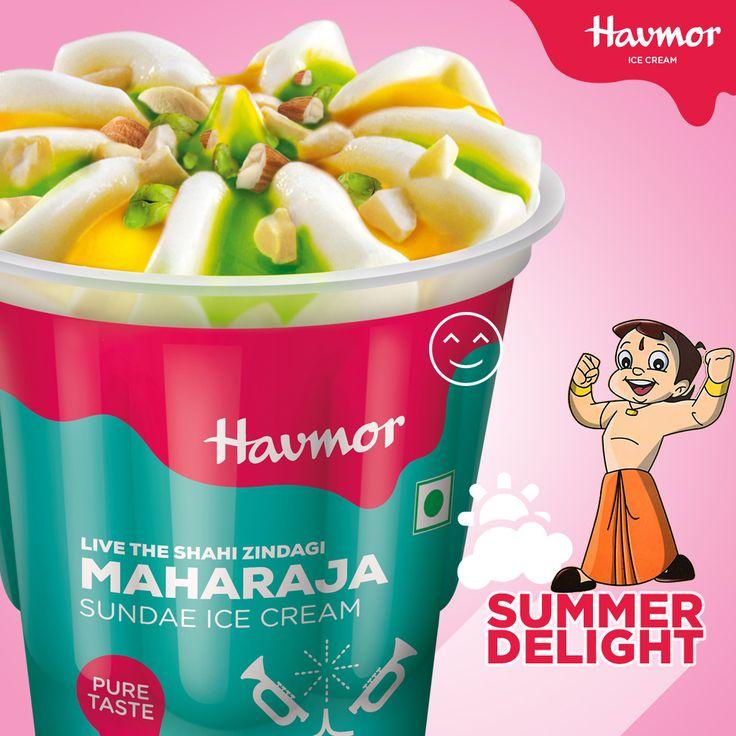 Relish your dessert like Kings & Queens with our new range of Chhota Bheem #SummerDelight  Maharaja Sundae.