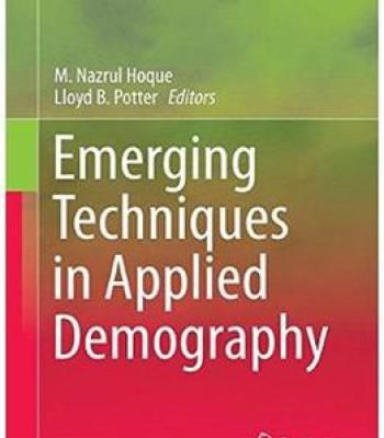 Emerging Techniques In Applied Demography PDF