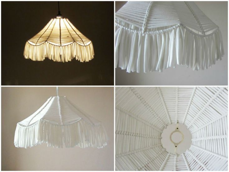 how to put fabric on a lampshade