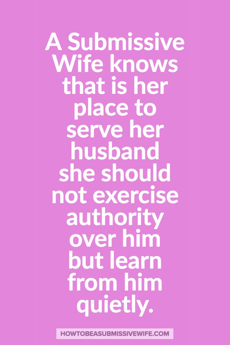 what to do with a submissive woman