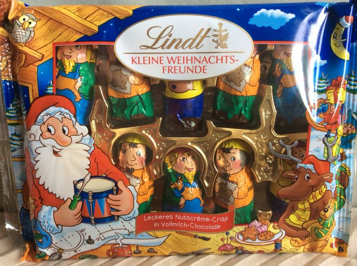 Christmas Elves by Lindt, in cellophane package. Originally bought in St Pölten as gifts, but they were too cute, so we kept them.