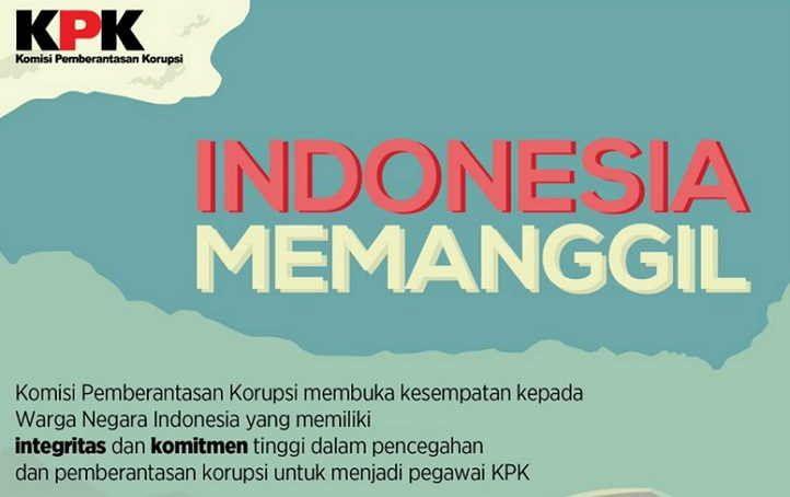 Informasi Lowongan KPK Experd Indonesia Memanggil 12 Oktober 2016, pendaftaran dibuka sejak tanggal 1 Oktober dan berakhir 11 Oktober 2016.