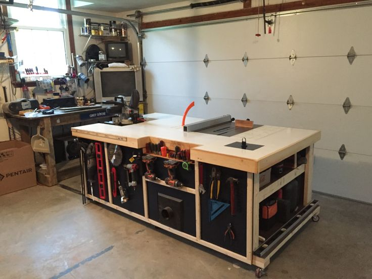 ... incorporate a table saw, chop saw, router and other various tools