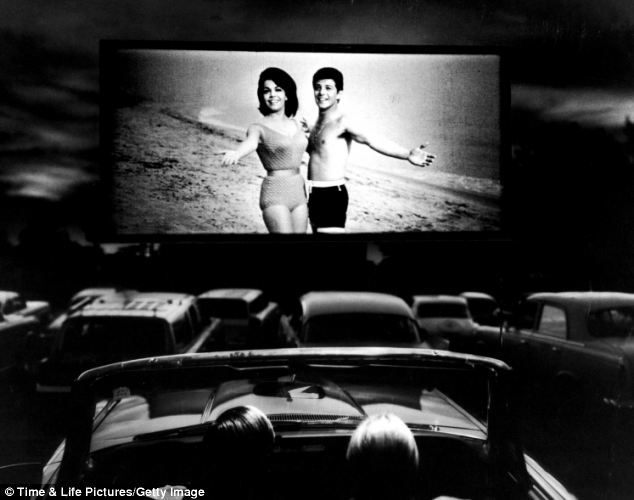 Fourth wall: Actors Annette Funicello and Frankie Avalon looks as if they are welcoming the viewers to join them in this screening of Beach Blanket Bingo