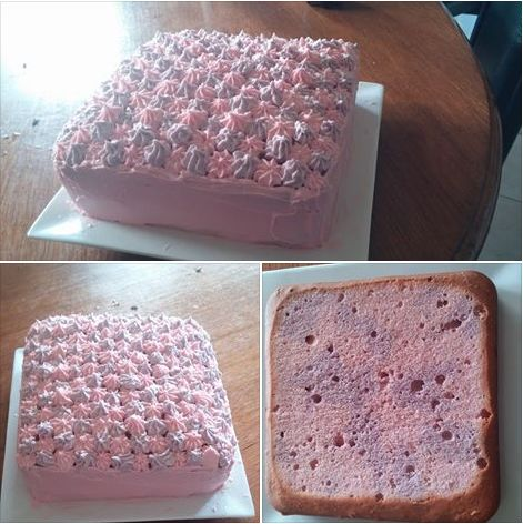 Cake for both girls 2016 Pink and Purple marble cake