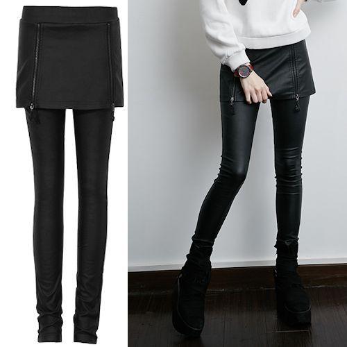 Black Skinny Burlesque Gothic Fashion Pencil Pants Leggings Women SKU-11404587