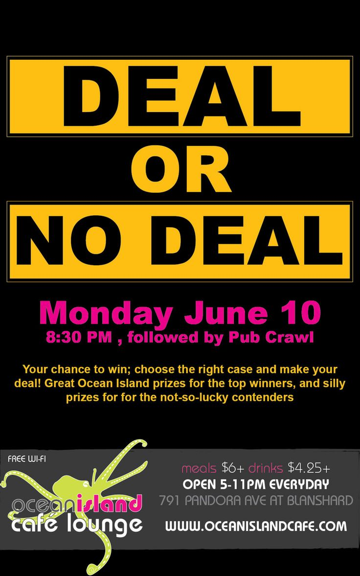 Interactive Games Night - deal or no deal