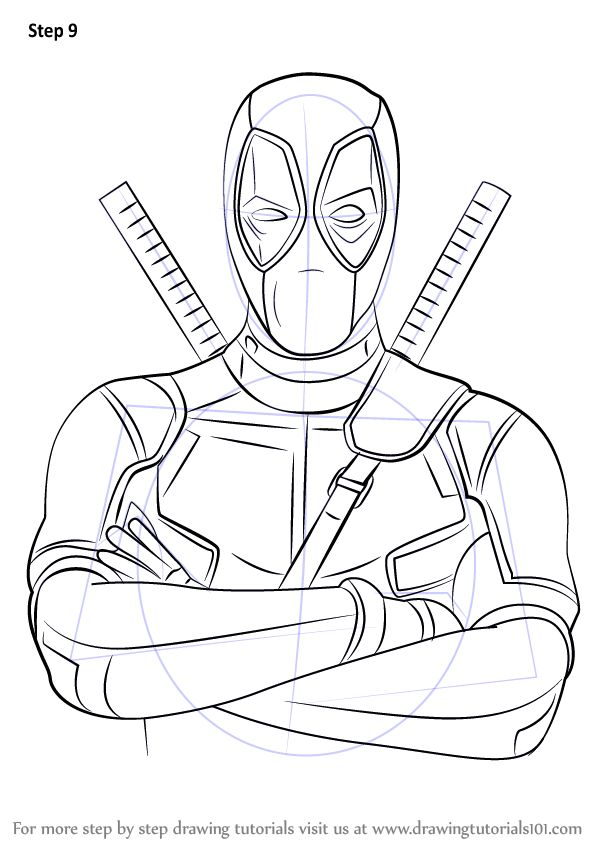 Learn How To Draw Deadpool Deadpool Step By Step Drawing