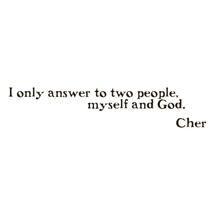 <li>Title: Cher Quote</li>    <li>Includes: One (1) wall decal</li> <li>Materials: Vinyl</li>