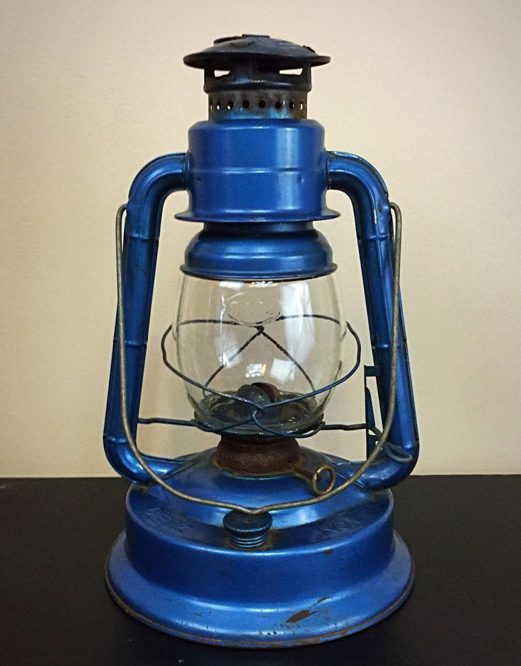 Dietz Lantern Vintage Railroad Lantern Blue Dietz Little Wizard No. 1 Antique Lantern by GlassInsulatorLights on Etsy https://www.etsy.com/listing/480928564/dietz-lantern-vintage-railroad-lantern
