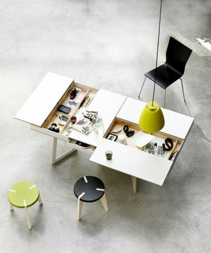 table basse avec rangement, table basse relevable ikea en bois blanc