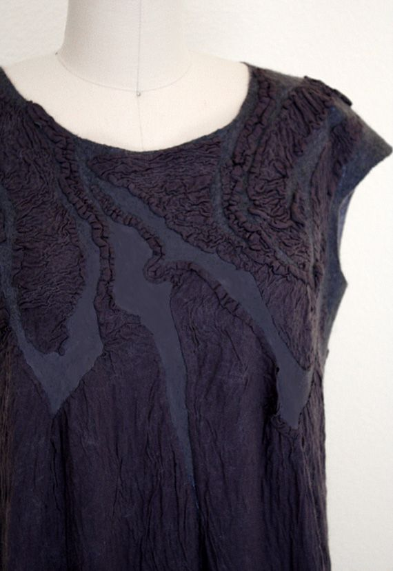 FELTING * NUNO FELTING * TUTORIAL * INSTRUCTIONS * PATTERN * SUMMER TOP * FELTED CLOTHES *