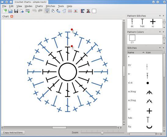 Stitch Works Software-  Programa para hacer diseños de labores a ganchillo