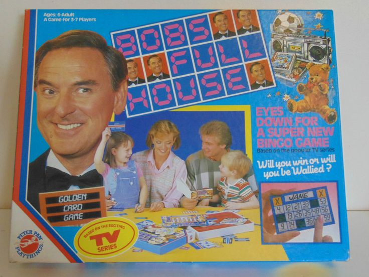 BOB S FULL HOUSE GAME vintage 1985 Peter Pan Bob Monkhouse Bingo Free UK P&P