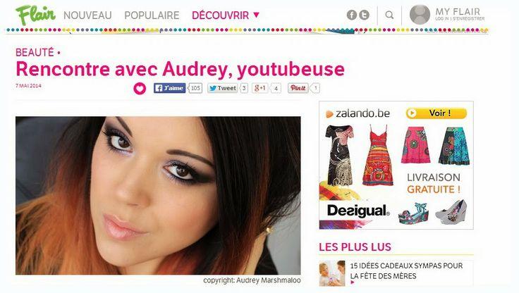 ♥ Audrey MarshmaloO: Petite interview chez Flair.be