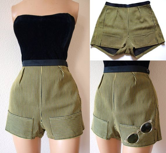 The Perfect 1950s Vintage High Waist Pin Up Shorts \\  by FrauleinMarlene, $79.00