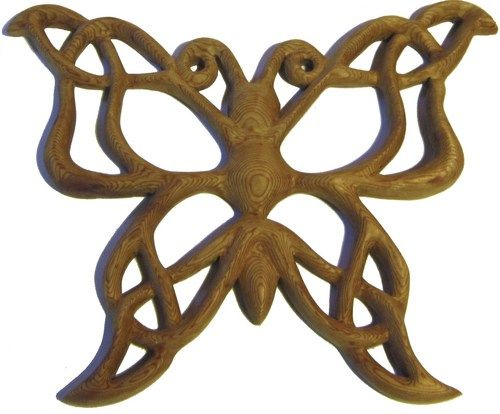 Celtic Butterfly Knot of Metamorphosis-Life Transition Symbol-Celebrating Soul Journey | signsofspirit - Woodworking on