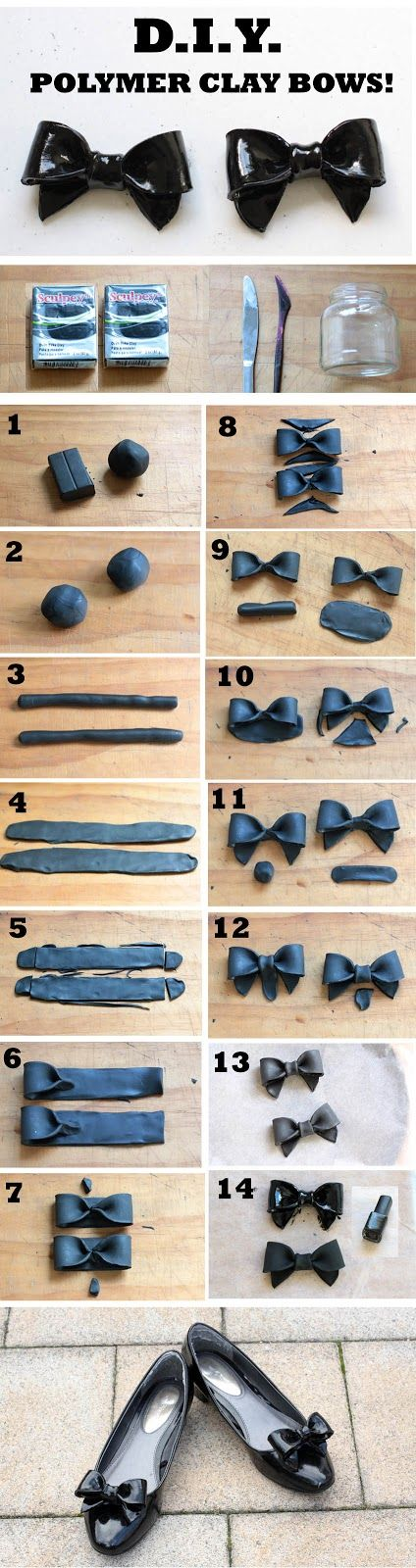 DIY Polymer Clay Bows Tutorial