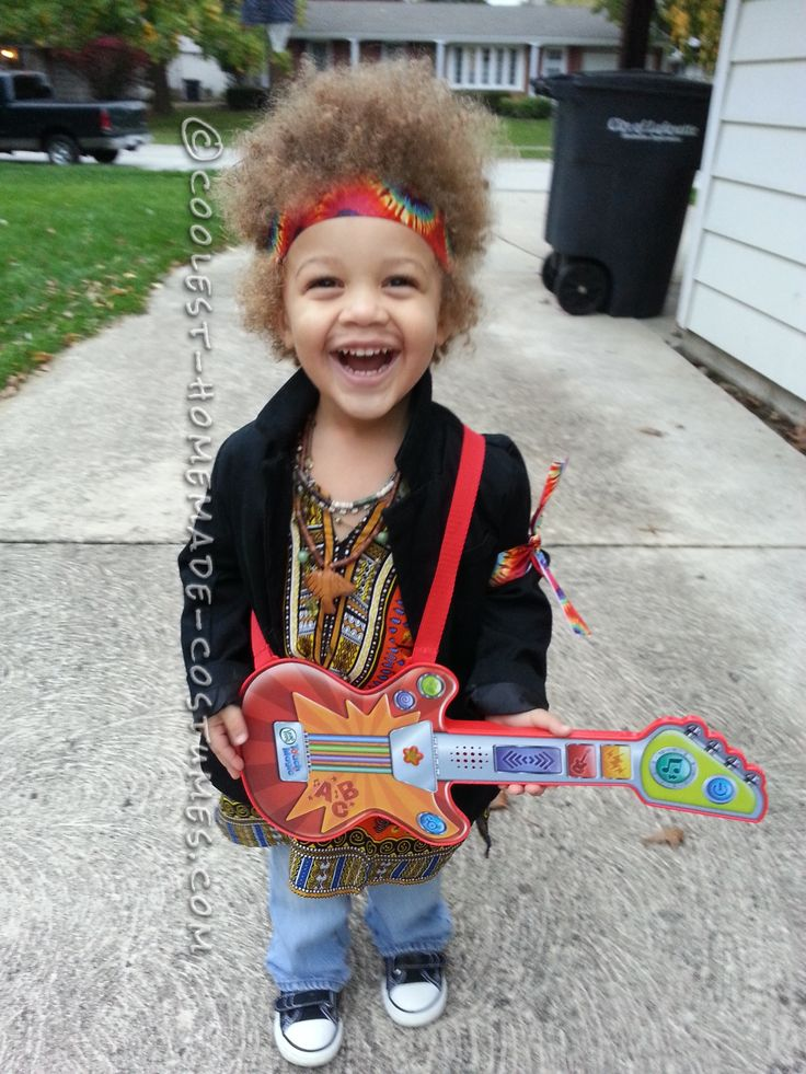 Homemade jimi hendrix costume for a boy for Diy halloween costumes for kid boy