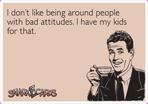 Hilarious images of the day, 90 pics. I Don't Like Being Around People With Bad Attitudes, I Have My Kids For That