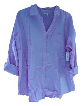 Old Navy On Oxford Button Down Shirt Light Purple