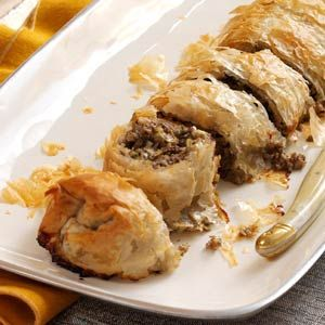 "Mushroom & Leek Strudel makes 2 ""logs"" Spouse liked it even bet..."
