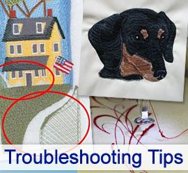 Troubleshooting Tips Learn how to avoid gapping, shifting, and thread tension problems with these helpful hints
