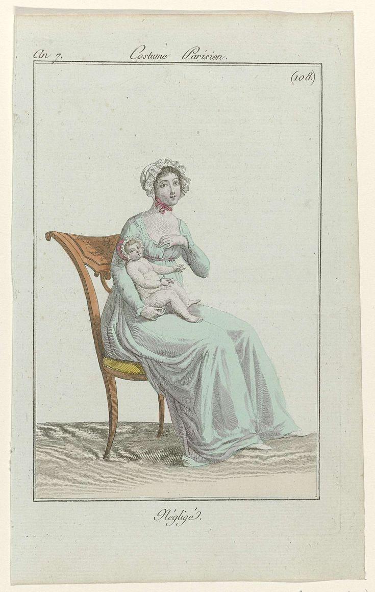 Journal des Dames et des Modes, Costume Parisien, 24 mai 1799, An 7 (108) : Négligé, Anonymous, 1799