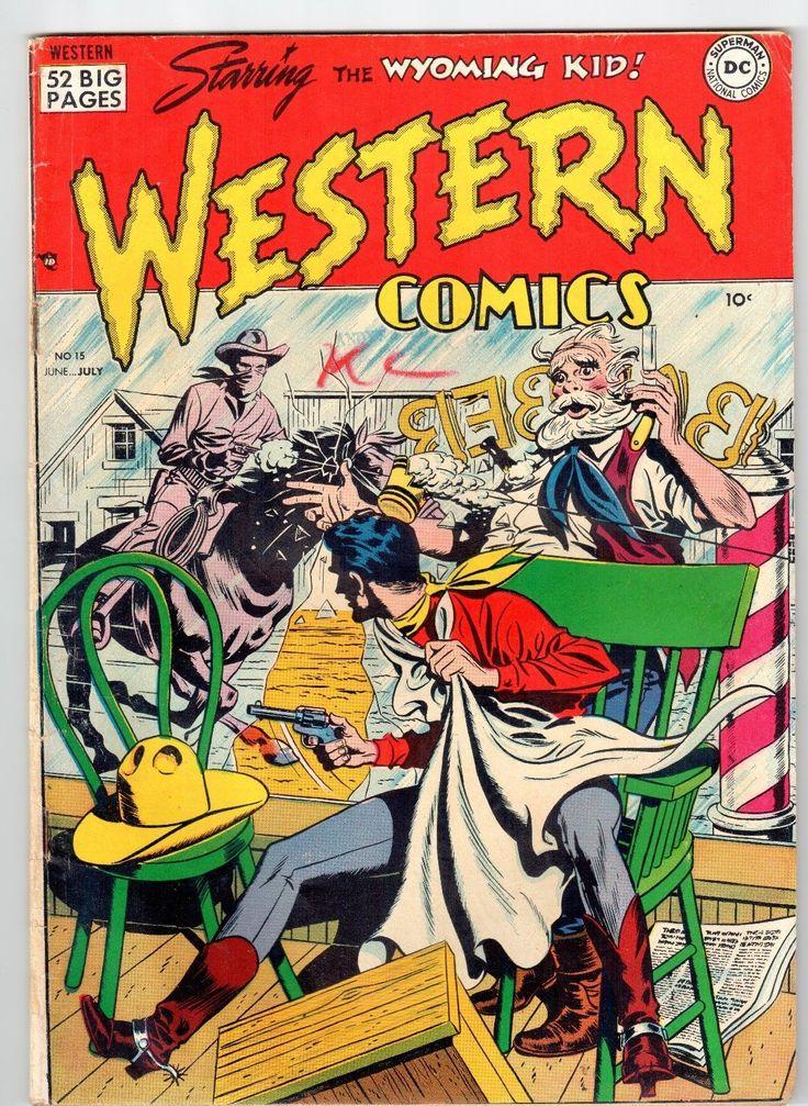 1950 Western Comics 15 starring The Wyoming Kid Vintage VG   eBay