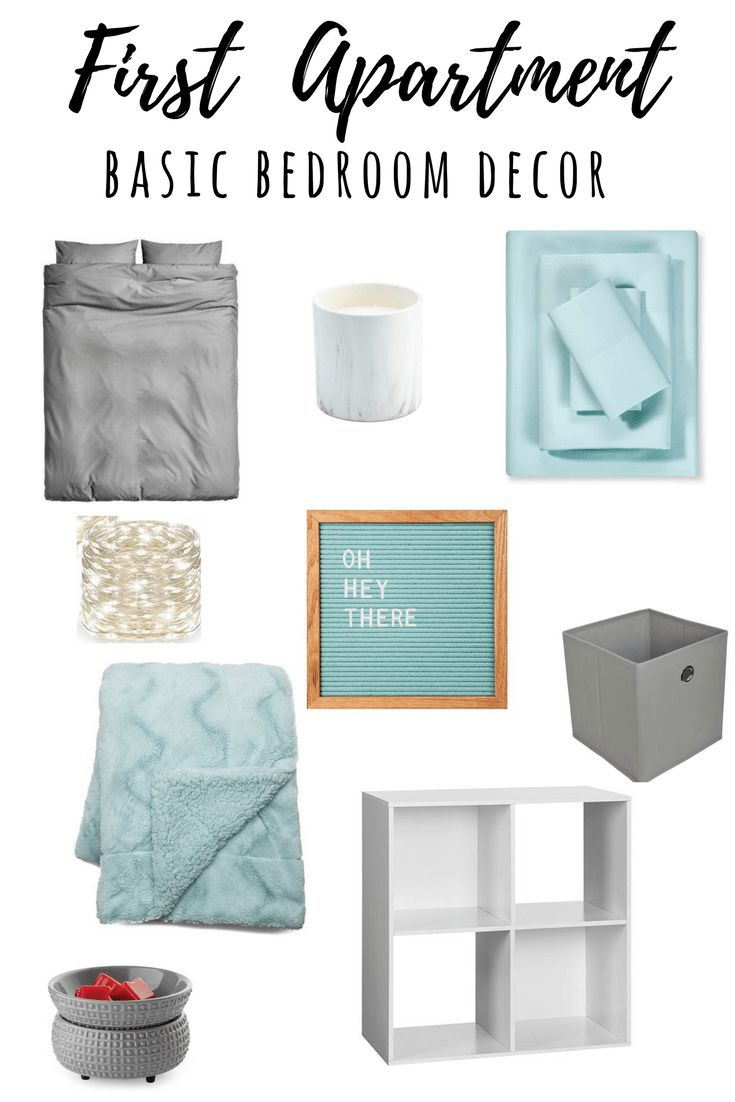 Check out these basic bedroom decor finds for the broke college girl's first apartment!