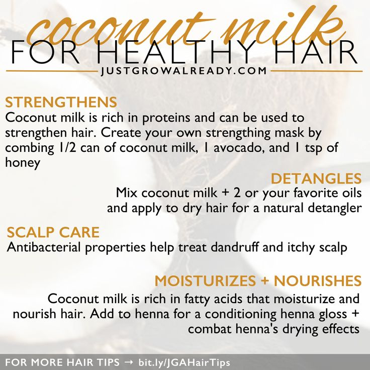 Coconut milk benefits for healthy hair | Just Grow Already blog