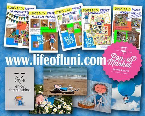 Zondag 31 mei is Luni er weer bij, op de Pop-Up Market met kaarten en nieuwe DIY pakketjes! Zie je daar!