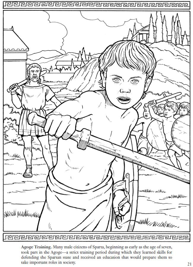 14 best Coloring Pages/LineArt Ancient Greek City States