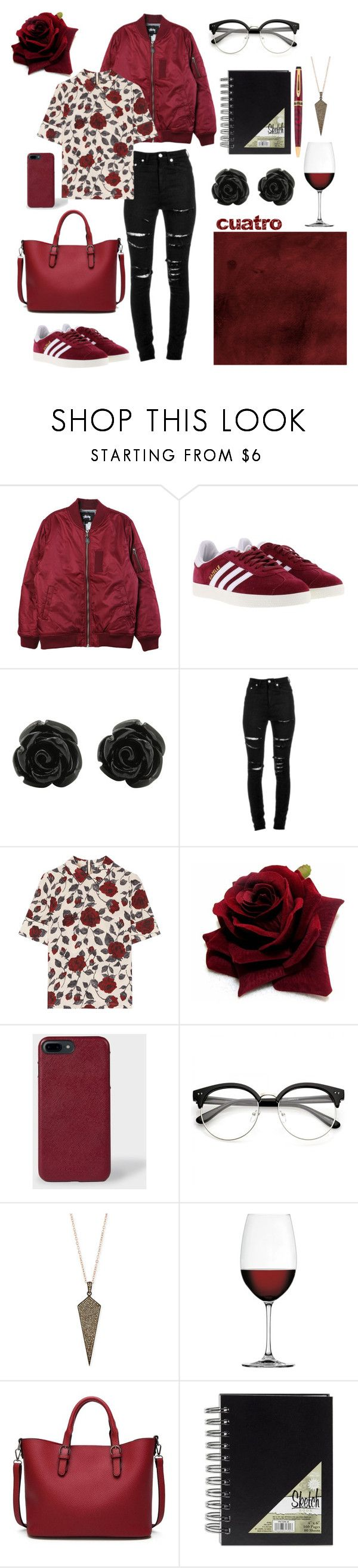 """""""cuatro"""" by lillian-rose-31 ❤ liked on Polyvore featuring Stussy, adidas, Yves Saint Laurent, Ganni, Paul Smith, Siena Jewelry and Nachtmann"""