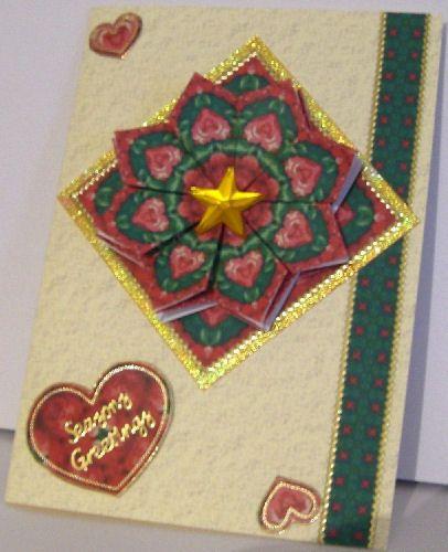 tea bag folding card making idea
