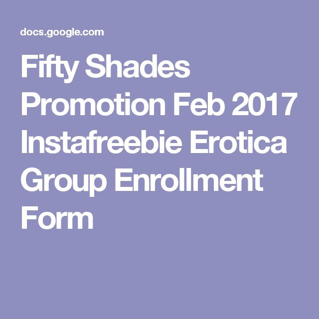 Fifty Shades Promotion Feb  Instafreebie Erotica Group