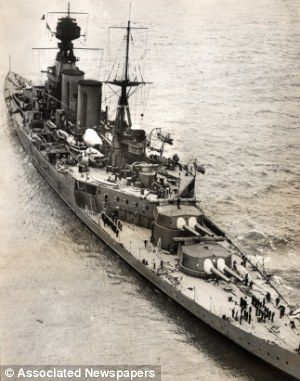 HMS Hood, the famous British battlefruiser sunk by the Bismarck in May 1941.