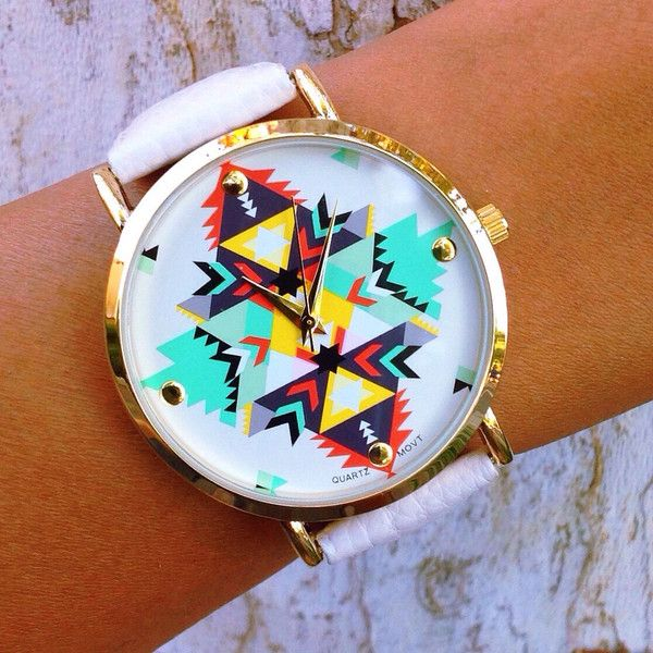 Such a cute watch! Love the colors and pattern!