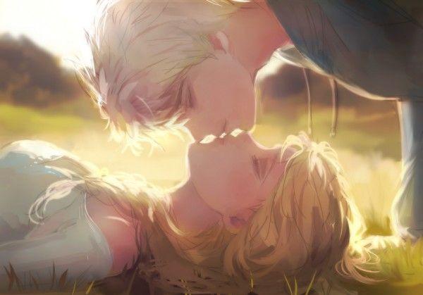 Baiser entre Jack Frost et Elsa La Reine des Neiges