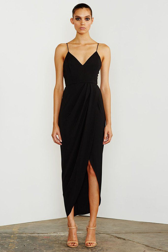 CORE COCKTAIL DRESS - BLACK – Shona Joy