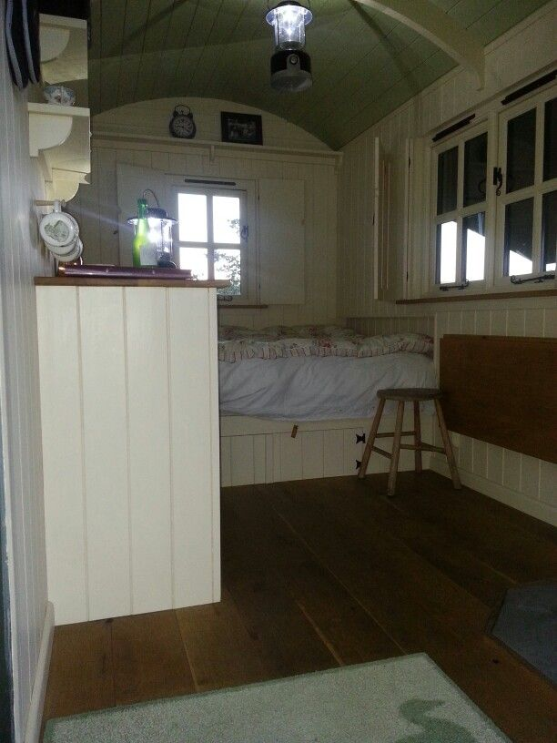 Inside Shepherds hut 2