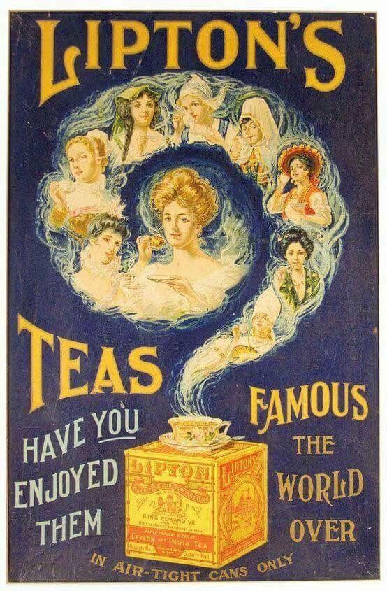 Lipton's Teas Vintage Poster