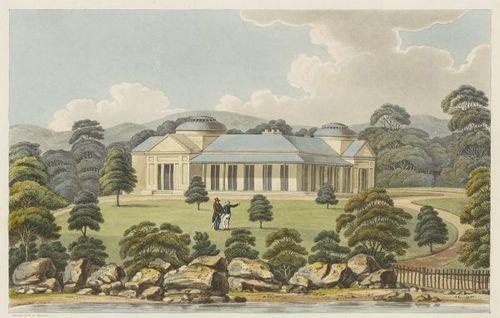 View of Captain Piper's naval villa at Eliza Point 1825 (Joseph Lycett) by peacay, via Flickr