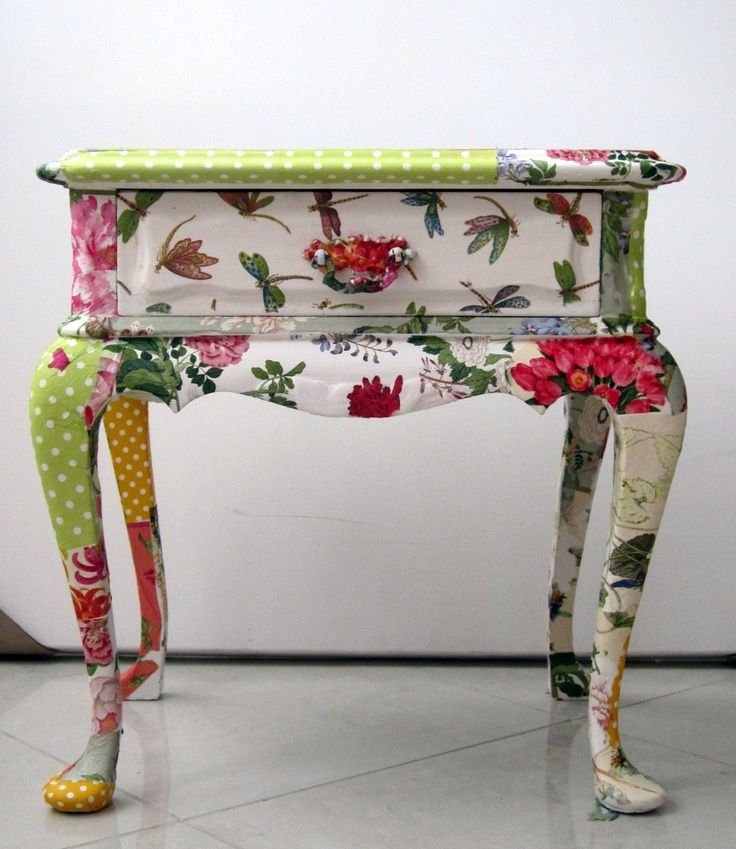 Decoupage...LOVE this table! ~C More More