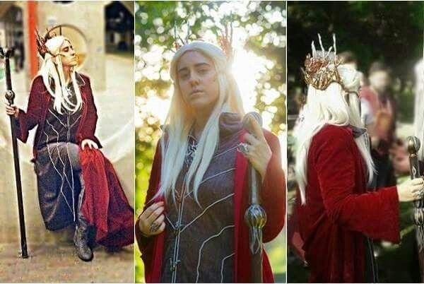 Thranduil with red cloak #Cosplay #DIY #me