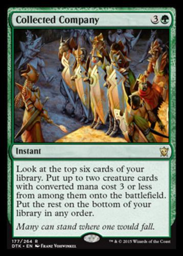 Collected Company mtg Magic the Gathering Dragons of Tarkir rare green modern instant spell card